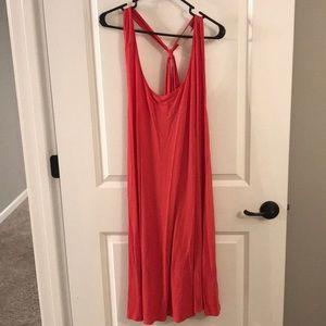 Strappy back, flowy LOFT plus dress